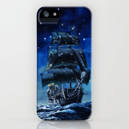 Black Pearl Starry Night iPhone Case