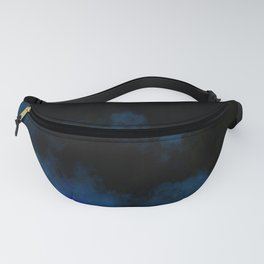 Dark black and blue Fanny Pack