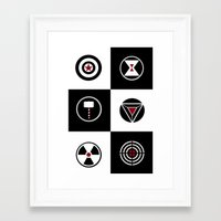 avenger Framed Art Prints featuring Avenger by ArikaDoe