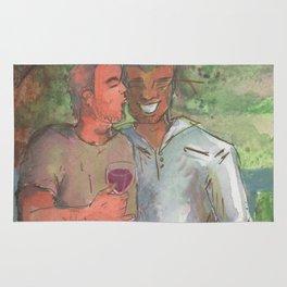 gay couple love <3 Rug