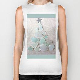Sea Foam Sea Glass Christmas Tree #Christmas #seaglass Biker Tank