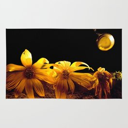 A Floral Pastime  Rug