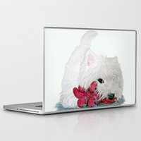 westie Laptop & iPad Skins featuring Tessie Westie Dog by Rachel's Pet Portraits
