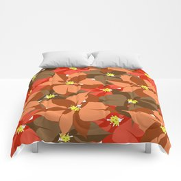Poinsettia Love Comforters