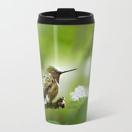 Hummingbird Sitting Travel Mug