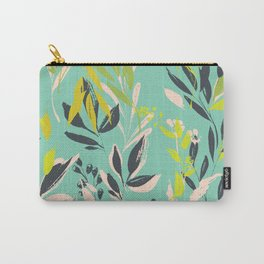 Tropical delight: fresh botanical pattern Carry-All Pouch