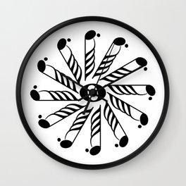 Music note mandala 3 Wall Clock
