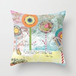 Dreamtime Journey Throw Pillow