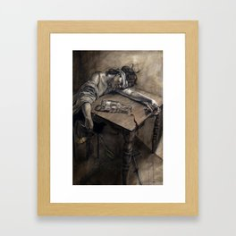 Lady Justice Framed Art Print