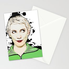 Portrait of Women Looking Up Vector Pop Art illustration Stationery Cards