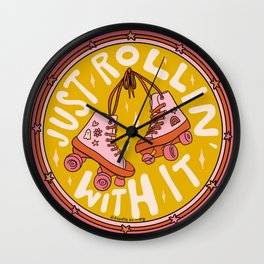 Rollin' With It Wall Clock
