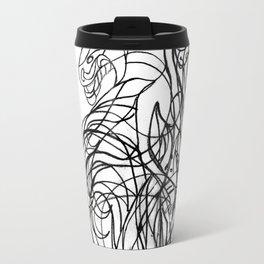 Man, dragon, bird and fish Travel Mug
