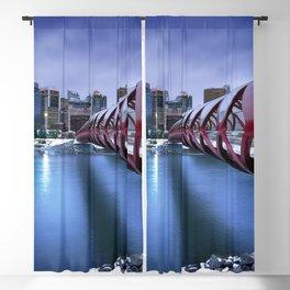 Famous Peace Bridge Across Bow River Calgary Alberta Canada Ultra HD Blackout Curtain