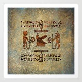 Hieroglyphs 2 Art Print