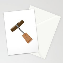 Corkscrew with Cork Stationery Cards