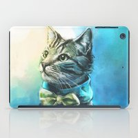 alice iPad Cases featuring Handsome Cat by Alice X. Zhang