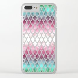 Pretty Mermaid Scales 20 Clear iPhone Case