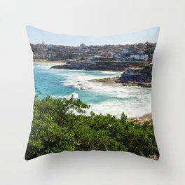 Sydney Coastline Throw Pillow