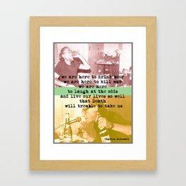CHARLES BUKOWSKI - WORD ART PRINT Framed Art Print