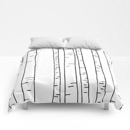 Minimal birches Comforters