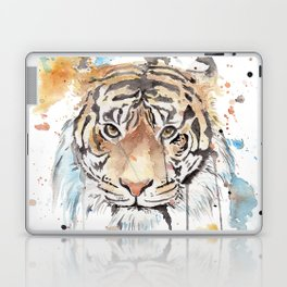 """Watercolor Painting of Picture """"Portrait of a Tiger"""" Laptop & iPad Skin"""