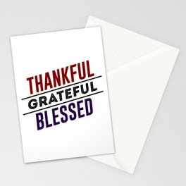 Thankful Grateful Blessed Stationery Cards