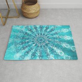 turquoise mandala Rug