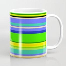 Color Stripes 2 - blue and green Coffee Mug