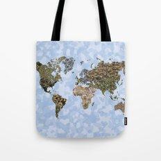 CAMO WORLD ATLAS MAP (blue) Tote Bag
