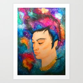 Galaxy Boy Art Print