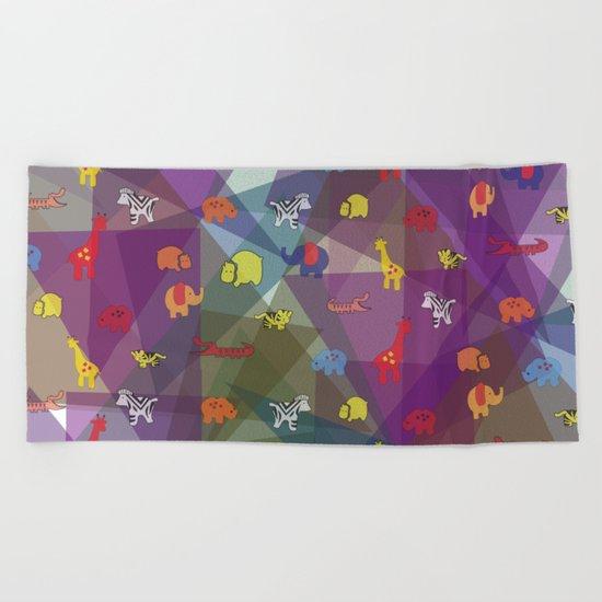 pattern 57 Beach Towel