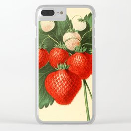 HOVEYS SEEDLING STRAWBERRY. Clear iPhone Case