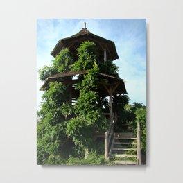Tower of Green Metal Print