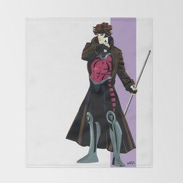 Remy LeBeau (original outfit) Throw Blanket
