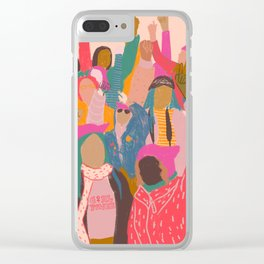 Womens march Clear iPhone Case