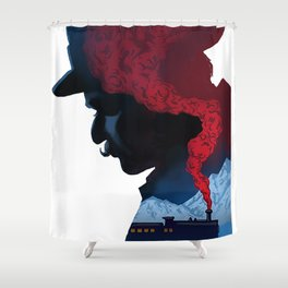 Murder On The Orient Express Shower Curtain