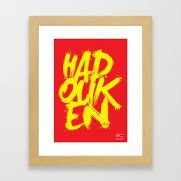 Hadouken Framed Art Print