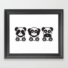 Panda Mantra Framed Art Print
