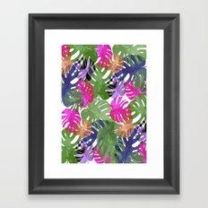 Monstera Glory Framed Art Print