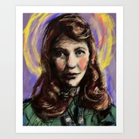 sylvia plath Art Prints featuring St. Sylvia Plath by Buttons McTavish