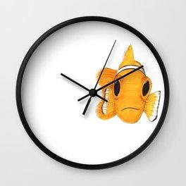 Not funny Clownfish Wall Clock