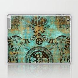 Elephants Lotus Flower Distressed Mandala Design Laptop & iPad Skin