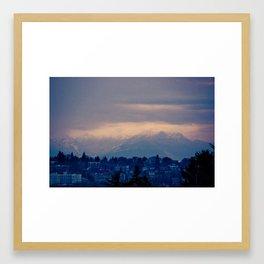 Seattle Sky Framed Art Print