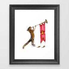 Herald Chipmunk Framed Art Print