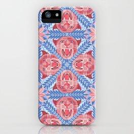Pink Panther Pattern iPhone Case
