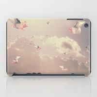 pigs iPad Cases featuring Flying Pigs by Raven haylin