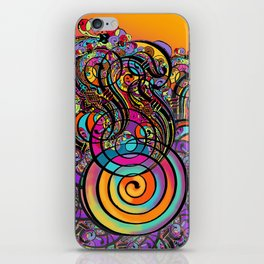 CALLIGRAPHIC LETTER TO A FLOWER iPhone Skin