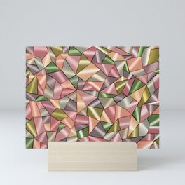 Abstract pattern in Cubism style Mini Art Print