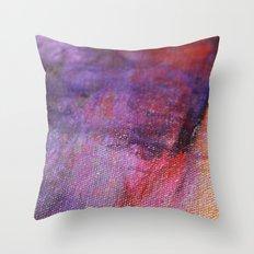 Red Vastness Throw Pillow
