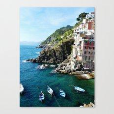 Riomaggiore Harbor Canvas Print